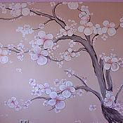 Картины и панно ручной работы. Ярмарка Мастеров - ручная работа Сакура роспись стены. Handmade.