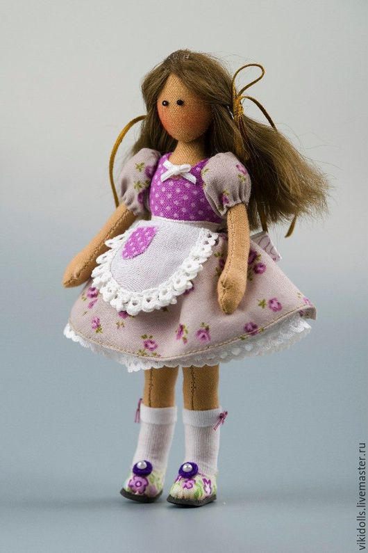 Коллекционные куклы ручной работы. Ярмарка Мастеров - ручная работа. Купить Кукла тильда Фиалка, минидолли. Handmade. Сиреневый