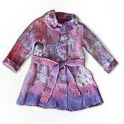 Работы для детей, ручной работы. Ярмарка Мастеров - ручная работа Пальто из шерсти и шелка для девочки. Handmade.