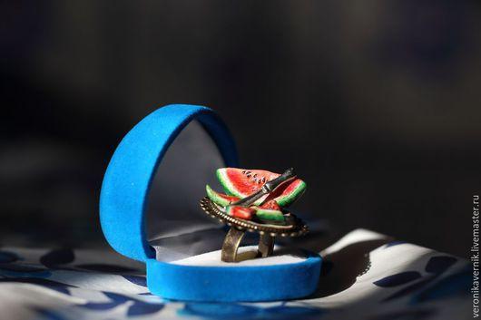 """Кольца ручной работы. Ярмарка Мастеров - ручная работа. Купить """"кольцо-арбуз"""". Handmade. Разноцветный, украшение на руку"""