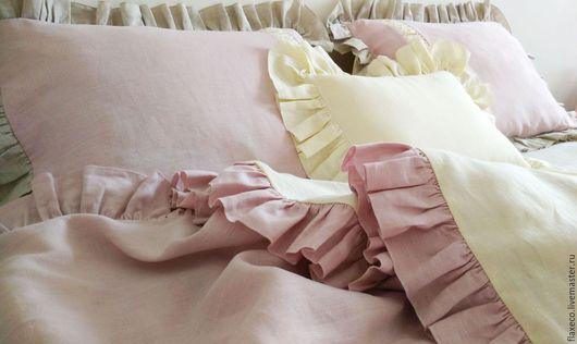 Текстиль, ковры ручной работы. Ярмарка Мастеров - ручная работа. Купить Льняное постельное белье «Изящность». Ручная работа.. Handmade.