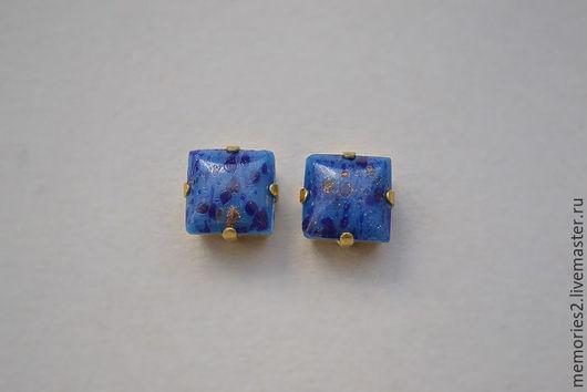 Для украшений ручной работы. Ярмарка Мастеров - ручная работа. Купить Винтажные стразы 8х8 мм цвет Lapis Blue. Handmade.
