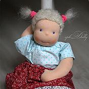 Куклы и игрушки ручной работы. Ярмарка Мастеров - ручная работа Моя доча (37 см) - вальдорфская кукла игровая ручной работы для девочк. Handmade.