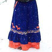 """Одежда ручной работы. Ярмарка Мастеров - ручная работа Яркая юбка """"История одной лисы"""". Handmade."""