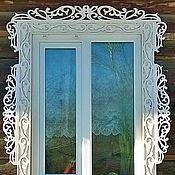 Для дома и интерьера handmade. Livemaster - original item Carved wood trim on the Windows under the order. Art. 21077. Handmade.