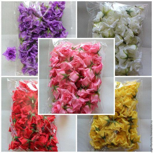 Цветы ручной работы. Ярмарка Мастеров - ручная работа. Купить Искусственные цветы бутоны розы. Handmade. Комбинированный, роза, ткань