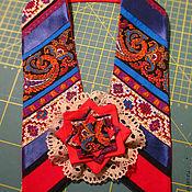 Украшения ручной работы. Ярмарка Мастеров - ручная работа нарядный воротник и брошь. Handmade.