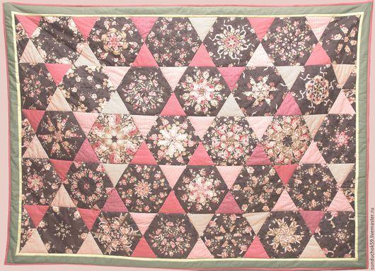 Текстиль, ковры ручной работы. Ярмарка Мастеров - ручная работа. Купить Розовый вальс (Калейдоскоп). Handmade. Розовый, цветы, пэчворк