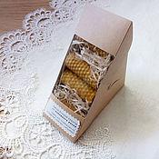 Свечи ручной работы. Ярмарка Мастеров - ручная работа Подарочный набор крученых свечей 6см.. Handmade.