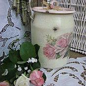 """Для дома и интерьера ручной работы. Ярмарка Мастеров - ручная работа Бидон """"Розовая нежность"""". Handmade."""