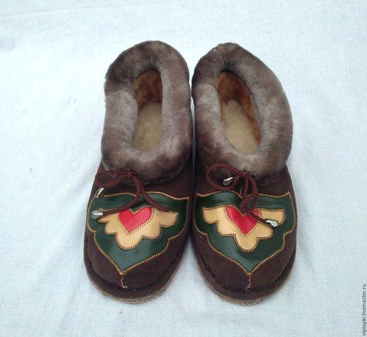 Обувь ручной работы. Ярмарка Мастеров - ручная работа. Купить Полуботинки из овчины 5. Handmade. Тапочки домашние, тапочки для дома