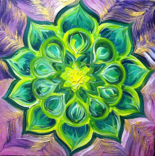 Мандала Вторая Половинка Именная 30х30.  В данном случае,  в медитации цветок должен раскрываться при просмотре на картинку