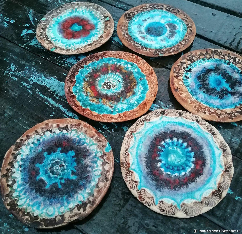 Набор кружевных тарелочек, блюдца ручной работы. Авторские тарелки, Тарелки, Москва,  Фото №1