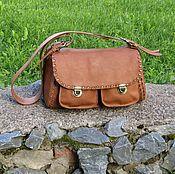 Classic Bag handmade. Livemaster - original item Women`s leather shoulder bag ESMERALDA walnut color. Handmade.
