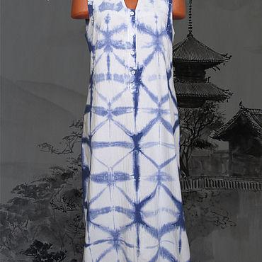 """Одежда ручной работы. Ярмарка Мастеров - ручная работа Туника """"Shibori #0072"""". Handmade."""