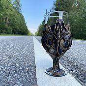 Посуда handmade. Livemaster - original item Gift glass for beer 450 ml. Handmade.
