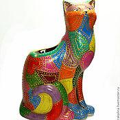 """Для дома и интерьера ручной работы. Ярмарка Мастеров - ручная работа Аромалампа """"Кошечка с сердечками"""". Handmade."""