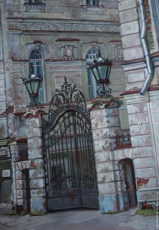 Картина `Старая Кострома`. Работа написана в 2007 году, под впечатлением от поездки в Кострому.