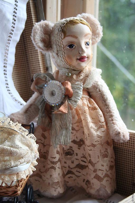 """Куклы и игрушки ручной работы. Ярмарка Мастеров - ручная работа. Купить тедди-долл """" Аглая"""". Handmade. Бледно-розовый"""