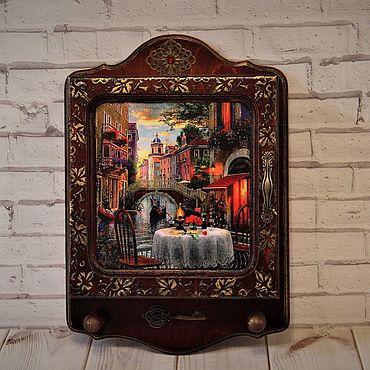 "For home and interior handmade. Livemaster - original item Ключница настенная""Любовь моя -Венеция"". Handmade."