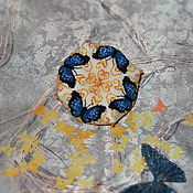 Подарки к праздникам ручной работы. Ярмарка Мастеров - ручная работа Игольница с бабочками. Handmade.
