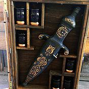 Оформление бутылок ручной работы. Ярмарка Мастеров - ручная работа Подарок мужчине мини-бар. Handmade.