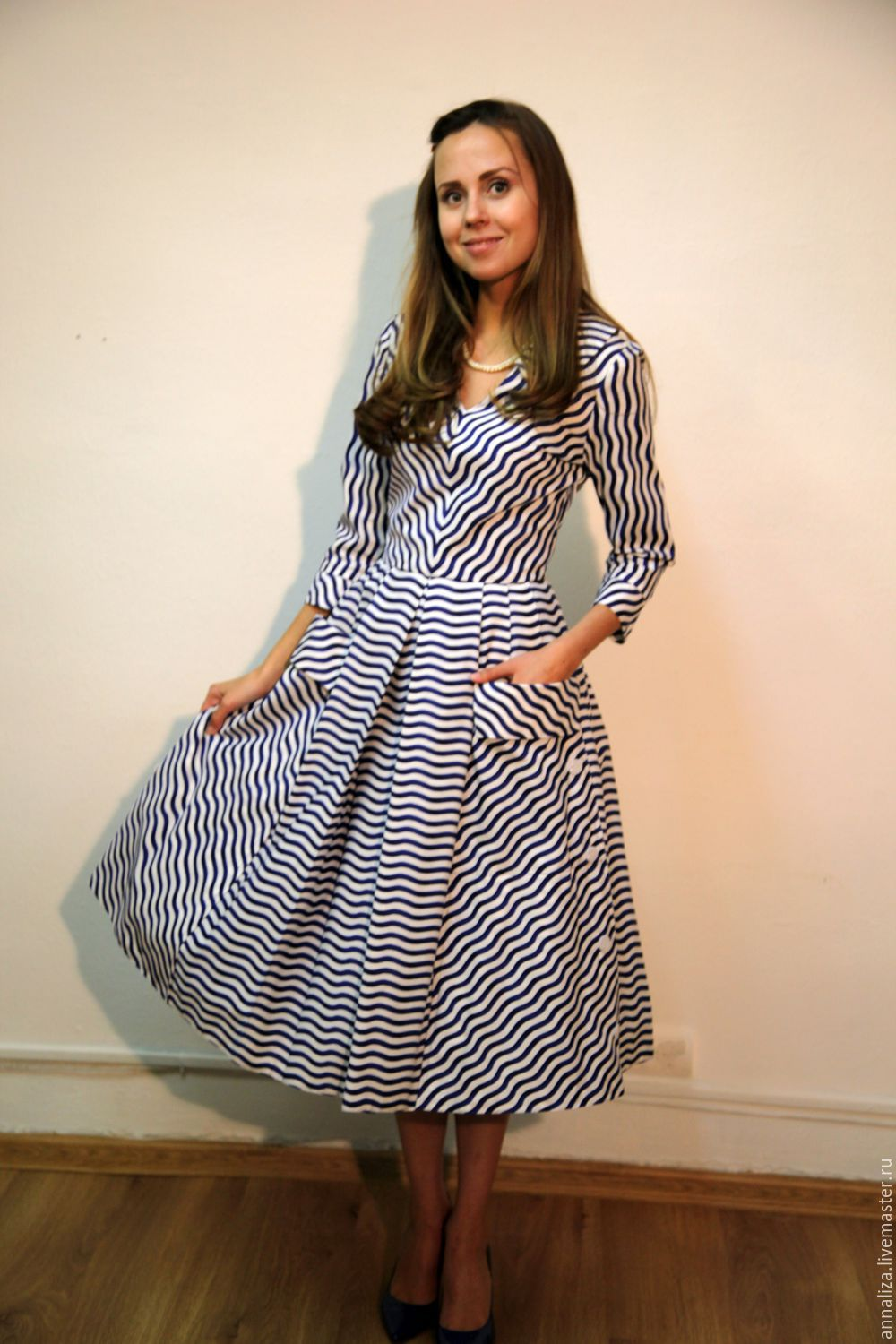 cdfafdbf1fc Dresses handmade. Livemaster - handmade. Buy Dress in retro style  New  wave  ...