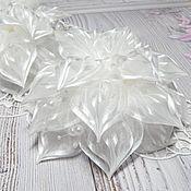 Украшения handmade. Livemaster - original item Bow bows white. Handmade.