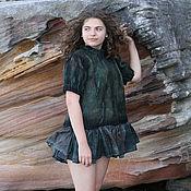 Одежда handmade. Livemaster - original item Nuno Felted Green Jacket . Women Felt Jacket, Wool Jacket for Women, W. Handmade.