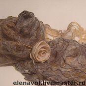 Аксессуары ручной работы. Ярмарка Мастеров - ручная работа Комплекты шарф+брошка. Handmade.