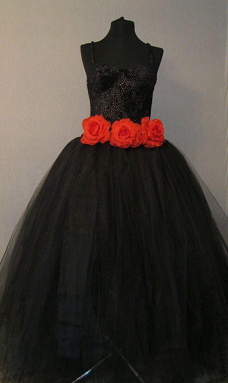 Женское платье из фатина мастер класс
