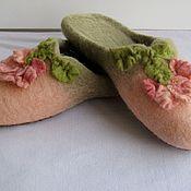 """Обувь ручной работы. Ярмарка Мастеров - ручная работа Тапочки валяные """"Шиповника цвет"""". Handmade."""