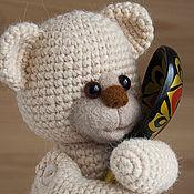 Мишка вязаный Умка -  вязаный мишка - игрушка от 3-х лет.