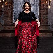 Skirts handmade. Livemaster - original item Skirt Red tartan. Handmade.