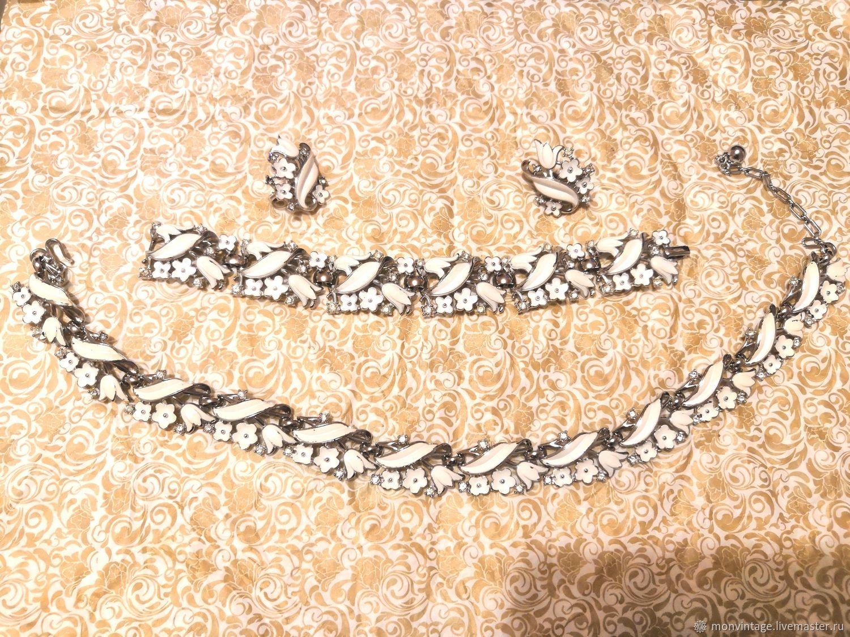 Винтаж: Винтажный комплект колье, браслет, клипсы Trifari, Комплекты украшений винтажные, Солнечногорск,  Фото №1