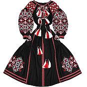"Одежда handmade. Livemaster - original item Black dress with wedges ""Spring Beauty"". Handmade."