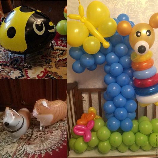 Персональные подарки ручной работы. Ярмарка Мастеров - ручная работа. Купить Цифры из воздушных шаров. Handmade. Комбинированный, воздушный шарик