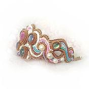 Украшения handmade. Livemaster - original item Rainbow cloud bracelet. Ruby, aquamarine, sapphire, amethyst, pearl. Handmade.