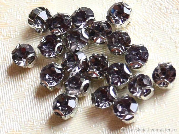 Стразы горный хрусталь цвет бриллиант черный,  SS16 - 4 мм