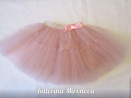 Одежда для девочек, ручной работы. Ярмарка Мастеров - ручная работа. Купить Детская пудровая юбка-пачка. Handmade. Розовый