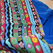 """Одежда ручной работы. Ярмарка Мастеров - ручная работа Юбка (2в1) из корейской вискозы """"Этнический напев моря"""". Handmade."""