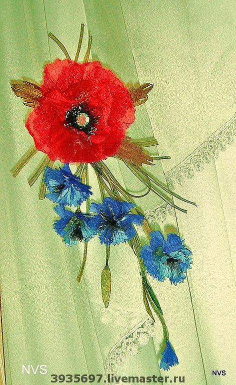 Броши ручной работы. Ярмарка Мастеров - ручная работа. Купить букет полевых цветов. Handmade. Авторская работа
