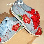 Обувь ручной работы. Ярмарка Мастеров - ручная работа мокасины с вышивкой. Handmade.