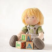 Куклы и игрушки ручной работы. Ярмарка Мастеров - ручная работа Текстильная кукла-мальчик.. Handmade.