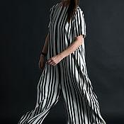 Одежда handmade. Livemaster - original item Jumpsuit made of linen with pockets - JP0300LE. Handmade.