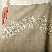 Одежда handmade. Livemaster - original item Skirt of unbleached linen