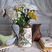 Для дома и интерьера ручной работы. Ярмарка Мастеров - ручная работа Лейка Любимый чертополох. Handmade.