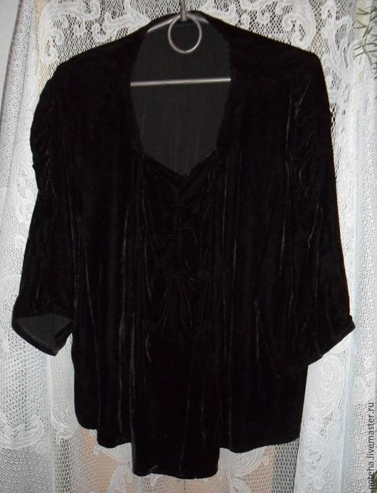 Одежда. Ярмарка Мастеров - ручная работа. Купить Черный панбархат. Блуза. Винтаж.. Handmade. Черный, блузка нарядная, для кукольной одежды