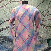 """Одежда ручной работы. Ярмарка Мастеров - ручная работа Яга пальто – кардиган """"Розовая карамель, клетка"""". Handmade."""