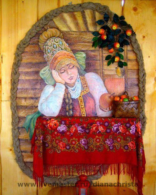 Декор поверхностей ручной работы. Ярмарка Мастеров - ручная работа. Купить Райское яблочко. Handmade. Акрил
